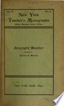 New York Teachers  Monographs