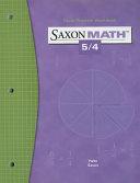 Saxon Math 5 4 Facts Practice Workbook