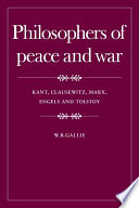 Philosophers of Peace and War