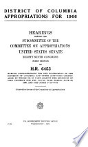 District of Columbia Appropriations for 1966  Hearings Before     89 1  on H R  6453