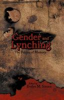 Gender and Lynching Pdf/ePub eBook