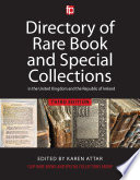 Directory Of Rare Book And Special Collections In The Uk And Republic Of Ireland Book