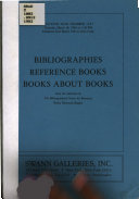 Bibliographies  Reference Books  Books about Books