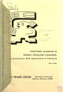 Structural Planning in Densely Populated Countries Book