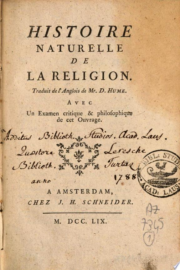 Histoire naturelle de la religion
