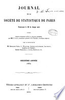 Journal de la Société de statistique de Paris