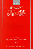 Managing The Chinese Environment Book PDF