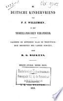 De Duitsche Kindervriend Van P F Willemsen In Een Nederlandschen Veranderd