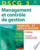 DSCG 3 - Management et contrôle de gestion - 3e édition