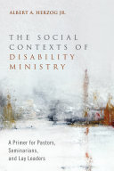 The Social Contexts of Disability Ministry Pdf/ePub eBook