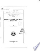 Prices of wool and wool products