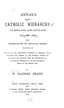 Annals of the Catholic Hierarchy in England and Scotland