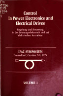 Control in Power Electronics and Electrical Drives