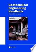 Geotechnical Engineering Handbook  Procedures