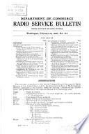 Radio Service Bulletin