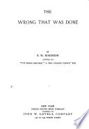 The Wrong that was Alone Book