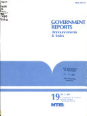 Government Reports Announcements Index Book PDF