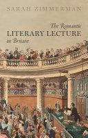 The Romantic Literary Lecture in Britain [Pdf/ePub] eBook