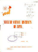 Nuclear Science Abstracts of Japan