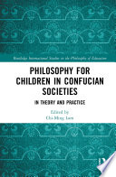 Philosophy For Children In Confucian Societies