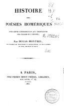 Histoire des poésies homériques...[y otras obras]