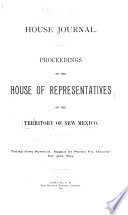 House Journal. Proceedings of the House of Representatives
