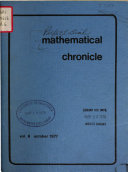 Mathematical Chronicle Book