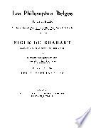 Les Philosophes belges, textes et études