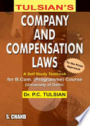 Company and Compensation Laws (For B.Com. Pass Course of University of Delhi)