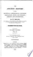 The ancient history of the Egyptians  Carthaginians   c    Transl