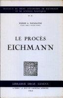 Le procès Eichmann