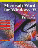 Microsoft Word for Windows 95