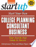 Start Your Own College Planning Consultant Business Book PDF