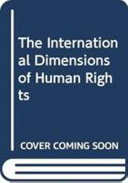 Pdf The International Dimensions of Human Rights