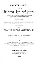 Encyclop  dia of Business Law and Forms