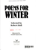 Poems for Winter