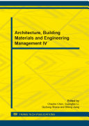 Architecture, Building Materials and Engineering Management IV Pdf/ePub eBook