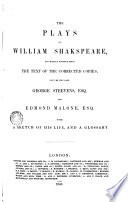 The Plays Of W Shakespeare