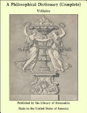 A Philosophical Dictionary (Complete) [Pdf/ePub] eBook