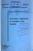 Bulletin Of The California State Department Of Education