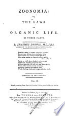 """Zoonomia, Or, The Laws of Organic Life: In Three Parts"" by Erasmus Darwin, Samuel Latham Mitchill, David Carlisle, Thomas & Andrews"