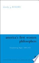 America s First Women Philosophers
