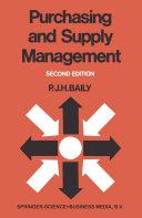 PURCHASING AND SUPPLY MANAGEMENT Pdf/ePub eBook