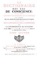 Le dictionaire des cas de conscience