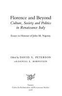 Florence and Beyond