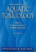 Pdf Fundamentals Of Aquatic Toxicology Telecharger