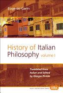 History of Italian Philosophy Pdf/ePub eBook