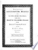 Erneuerte vaterländische Blätter für den österreichischen Kaiserstaat