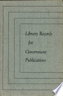 Library Records For Government Publications