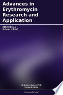 Advances In Erythromycin Research And Application 2012 Edition